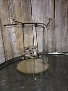 Spoontiques Crystal Teddy Bears Swinging On Branch On Mirror Base