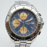 Breitling A13051 Chrono Shark Date Automatic Blue Silver Stainless Men's Watch