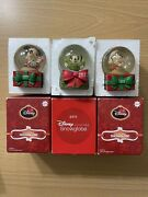 3 Collectible Jc Penny Mickey Mouse Christmas Snow Globes/domes 2011, 2013 New