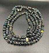 Old Ancient Antique Doted Black And White Glass Beads Lot Top Rare
