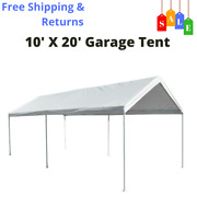 10and039 X 20and039 Portable Heavy Duty Canopy Garage Tent Carport Car Shelter Steel Frame