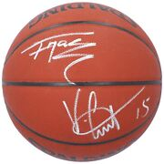 Tracy Mcgrady Vince Carter Toronto Raptors Autographed Official Game Basketball