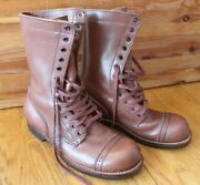 Repro Wwii Us Army Service Shoes Boots 8 Wingfoot Goodyear Brown Leather Lace Up