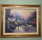 Thomas Kinkade Limited Edition Signed And Numbered Canvas With Authentication.