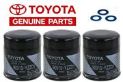 Set 3 Genuine Toyota Tacoma Oil Filter Oem With Washer 90915-yzzd1
