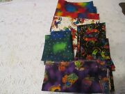 Rare Laurel Burch Clothworks 6 Yards Cat Holiday Collection Quilt Fabric Lot