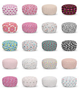 Ambesonne Vintage Valentine Ottoman Pouf Decor Soft Foot Rest And Removable Cover