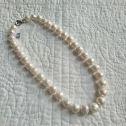 Ming Pearl Necklace 20 Honora Natural White Metallic 925 Sterling Silver Clasp