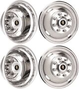 Jdf1708 Ford F-350 Drw 17 Inch Stainless Steel Hubcaps/simulators Set