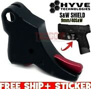 Hyve Technologies Monarch Trigger For Sandw Shield Fits 1.0 And 2.0 9mm 40 Black Red