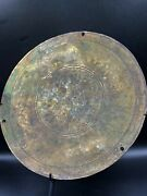 An Ancient Romanand039s Bronze Mirror Carved Engraved With Figures Scene Story Rare