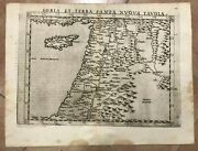 Holy Land Cyprus 1598 Ruscelli Ptolemy 16e Century Unusual Antique Engraved Map