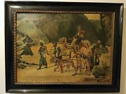 The Return From The Tiger Hunt After Rudolf Ernst Oil Painting