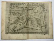 Holy Land Cyprus 1561 Ruscelli Ptolemy 16e Century Unusual Antique Engraved Map