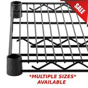 Any Size Single Black Epoxy Wire Metal Shelf For Shelving Unit Rack Vented New
