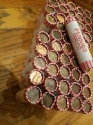50 Machine Rolls Of 95 Copper Pennies 1982 And Older. Lincoln Memorial Cents ++