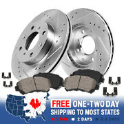 Front Drill Slot Brake Rotors And Ceramic Pads For 2012 2013 2014 - 2016 Fiat 500