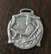 Fireman Driving The Fire Truck Vintage Watch Fob Sterling Silver