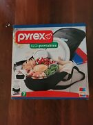 Rare New Pyrex Portables 7 Pc Party Bowl 4.5 Qt Insulated Food Carrier Set
