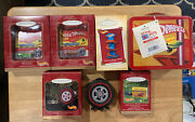 Hallmark Hot Wheels Ornaments Lot And Lunch Box Various Years