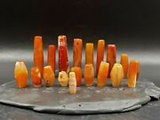 Old Beads Antique Ancient Indo Greek Greco Bactrian Jewelry Agate Antiquities
