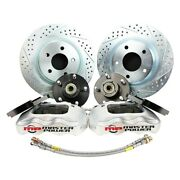 For Pontiac Grand Prix 65-68 Brake Conversion Kit Pro Driver Drilled And Slotted