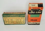 Bachmann Plasticville Street Accessories Kit And Life Like Grass Vintage