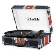 Vinyl Record Player Bluetooth Port Suitcase Music 3 Speed Turnt Gift