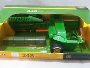 Ertl John Deere 348 Square Baler Scale 1/16 With Hay Bales Tomy - New In Box