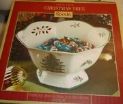 Spode Christmas Tree 8 Hexagonal Footed Bowl New In Box.