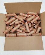100 Rolls Preformed Coin Wrappers Paper Tubes For Quarters Holds 10 Each New