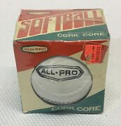 Vintage Nos And Sealed All Pro Cork Core Softball