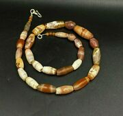 Old Dzi Beads Ancient Indus Valley Antiquities Carnelian Agate Beads Bronze Age