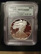 1986- S Icg- Pr70 Dcam Proof Silver Eagle Rare First Year Produced