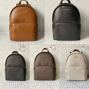Erin Large Double Strap Backpack Signature Mk Leather School Bag