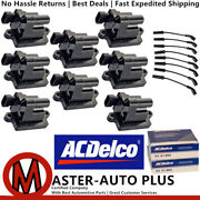Acdelco Double Platinum Spark Plug And Ignition Coil Wireset For Gmc 8.1l 5.3l V8