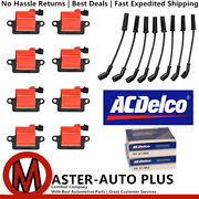 Acdelco Double Platinum Spark Plug And Ignition Coil Wireset For Gmc 5.3l 8.1l V8