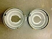 1951 Chevy Headlight Bucket And Ring Set Pass And Driver Randl Tin Woody Station Wagon