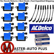 Acdelco Double Platinum Spark Plug And Ignition Coil Wireset For Gmc 4.8l 6.0l V8