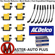 Acdelco Double Platinum Spark Plug And Ignition Coil Wireset For Gmc 6.0l 4.8l V8