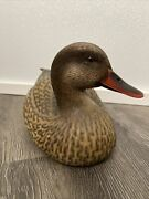 Jules A. Bouillet Vintage 1992 Hand Painted Signed Highly Detailed Duck Decoy