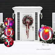 Christmas Joy Stake Signs41in New Year Outdoor Decorations With String Lights