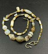 Old Beads Antique Ancient Indo Greek Greco Bactrian Jewelry Agate Necklace