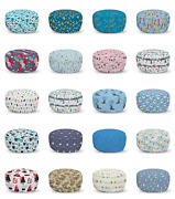 Ambesonne Winter Ottoman Pouf Decor Soft Foot Rest And Removable Cover