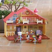 Bluey Blue Heeler Dog Bluey's Family Home House Playset Pack And Go Girls Toy Gift