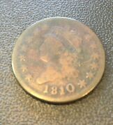 1810/09 1c Large Cent Very Good Plus Condition Scarce Variety S-281chocolate