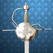 1590s French Musketeer Rapier 46 Sword With Scabbard Renaissance Collectible