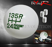 For Pontiac Fand039ing Fast 6-speed Racing Lower Reverse Hand Shift Knob Threaded M10