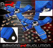 For Chevy 3 5 Point Harness Cam Lock Seat Belt Support Strap Autox Pair Blue