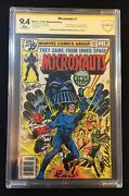 Micronauts 1 Cbcs 9.4 X2 Signed Golden And Al Milgrom 1st Baron Karza Not Cgc Ss